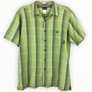 Patagonia Short Sleeve Plaid Button Down Shirt L